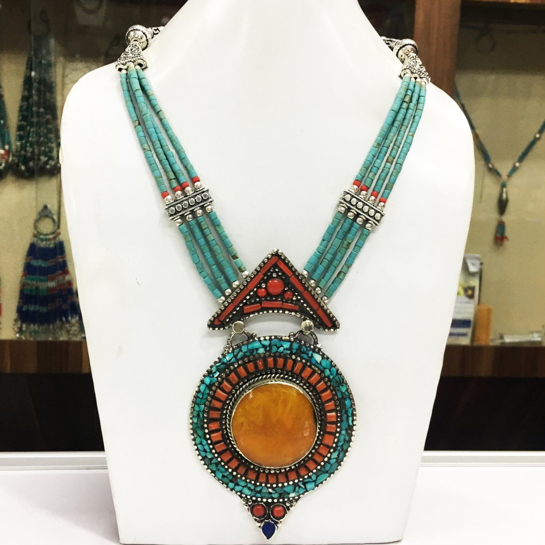Traditional Vintage Amber Antique Handmade Necklace