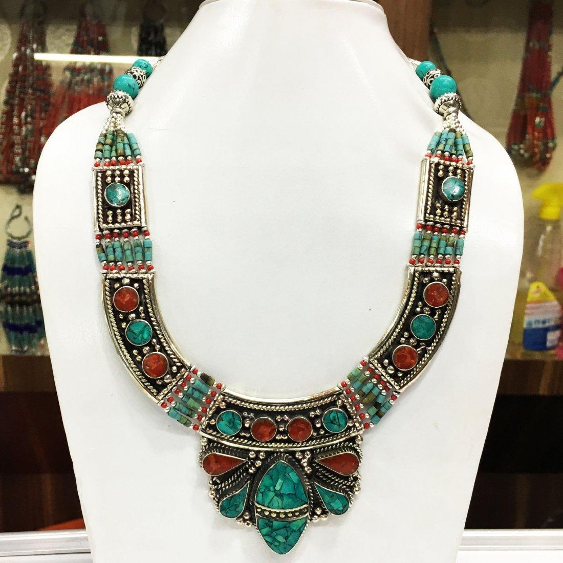 Tibetan Natural Boho Tribal Ethnic Necklace