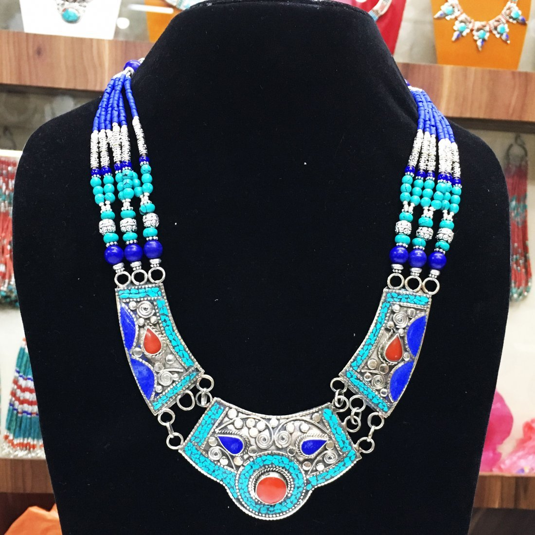 Traditional Vintage Turquoise Antique Necklace