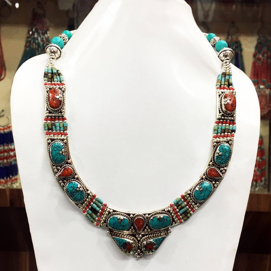 Nepalese Tibetan Silver Handmade Necklace