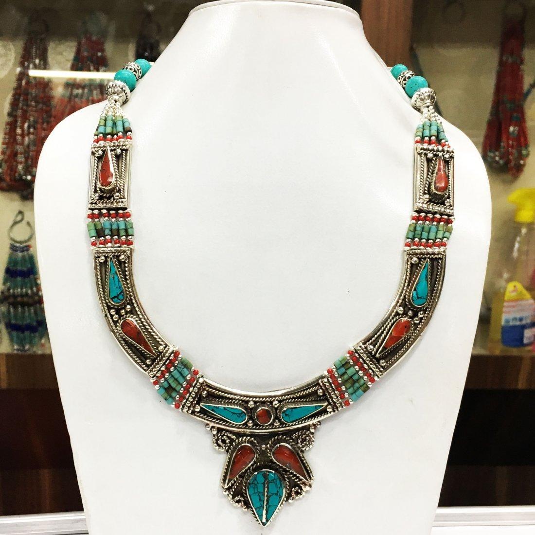 Tibetan Silver Handmade Choker Necklace
