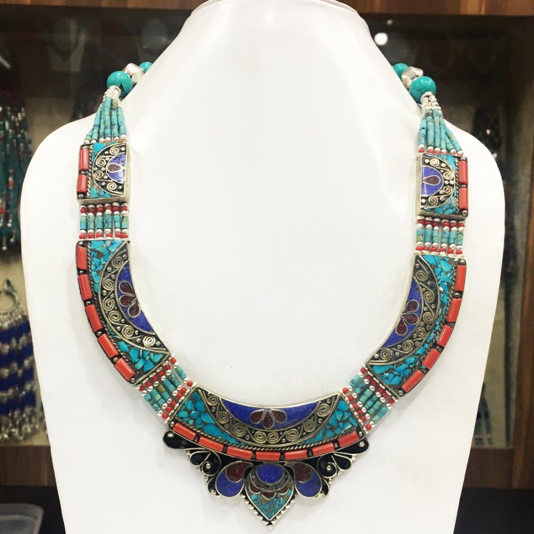 Buddhist Turquoise Handmade Vintage Necklace