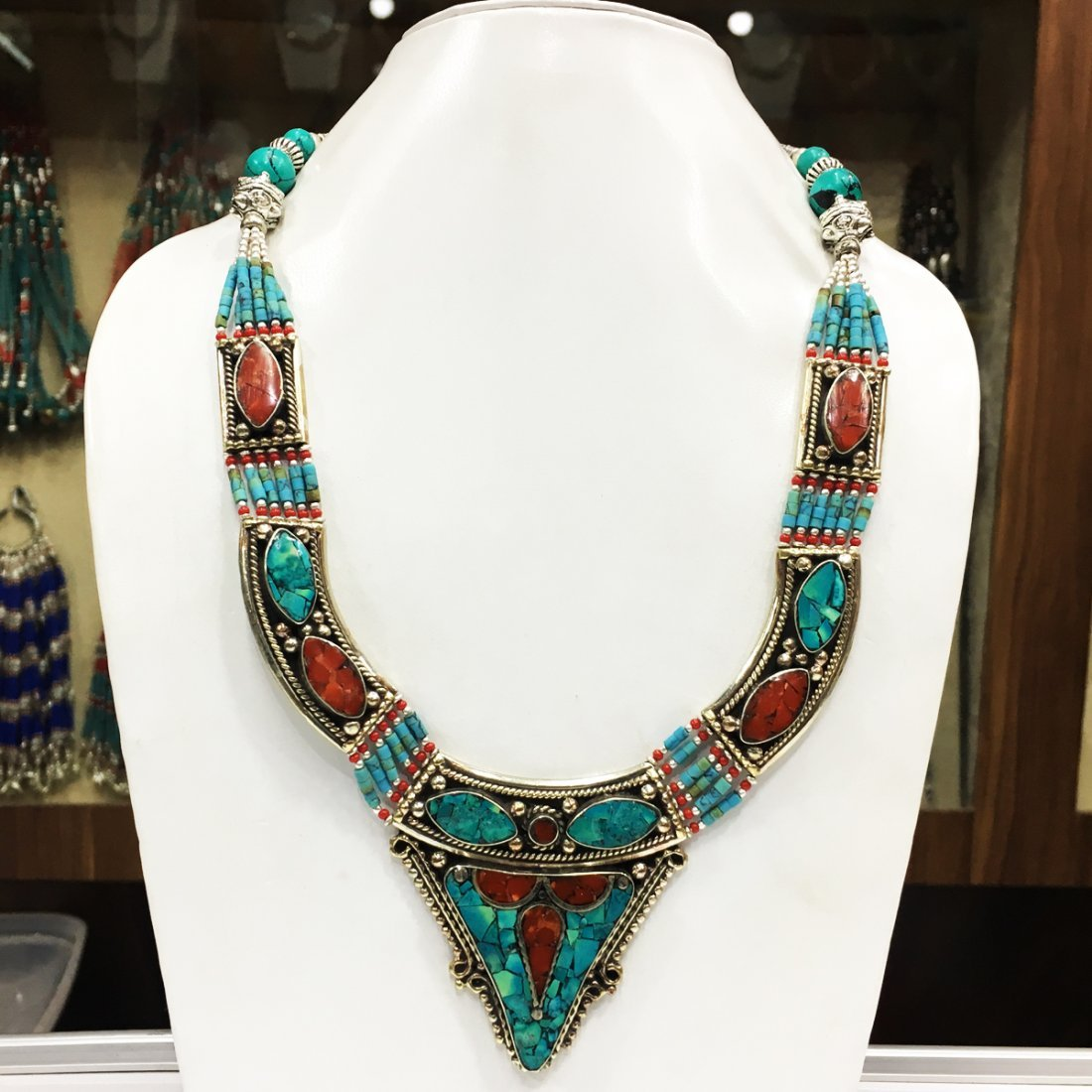 Handmade Traditional Bohemian Coral Necklace