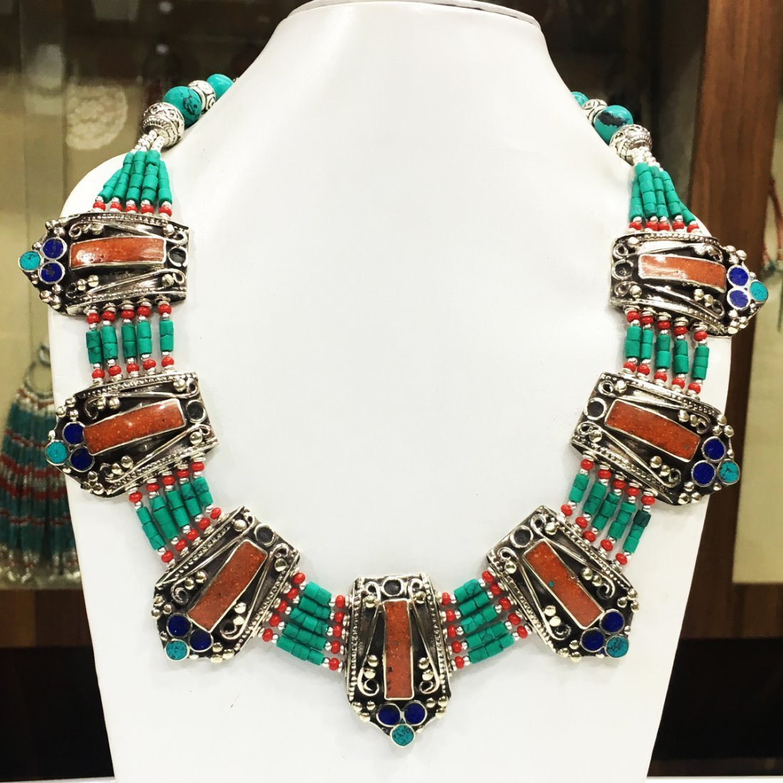 Royal Nepali & Mexican Big Bold Ethnic Necklace