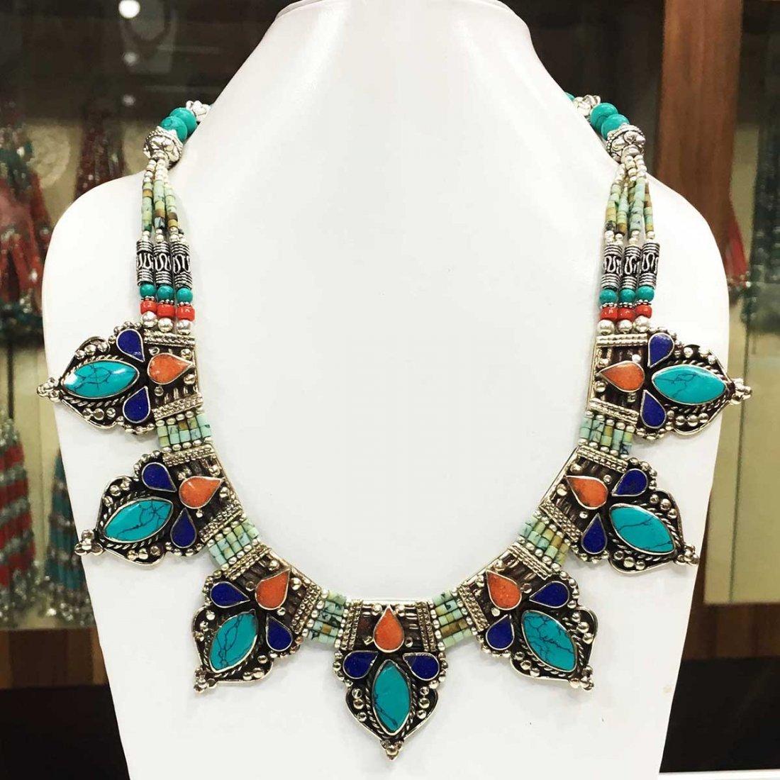 Ethnic Antique Choker Amber Handmade Necklace