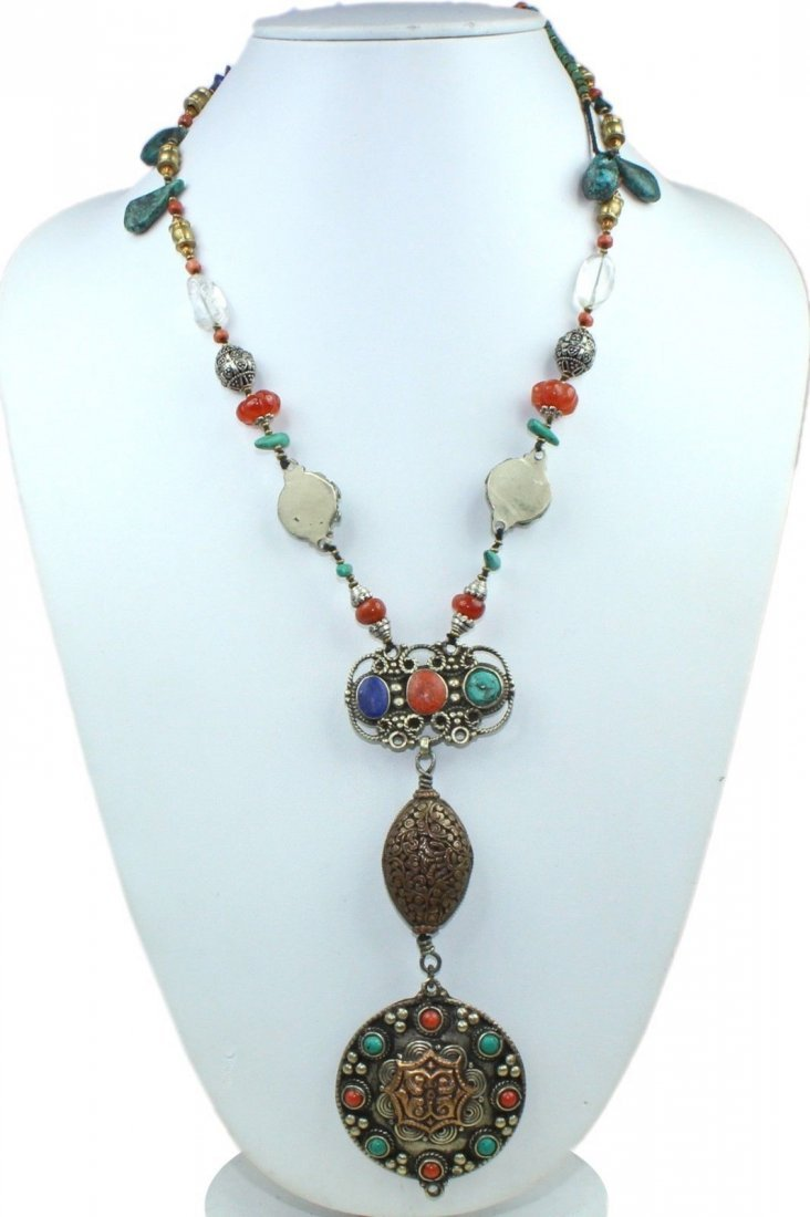 Tibetan Tribal Boho Handmade Turquoise Necklace