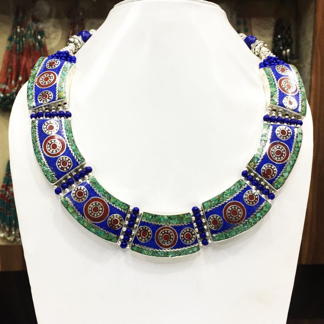 Royal Nepali Handmade Tibetan Lapis Necklace