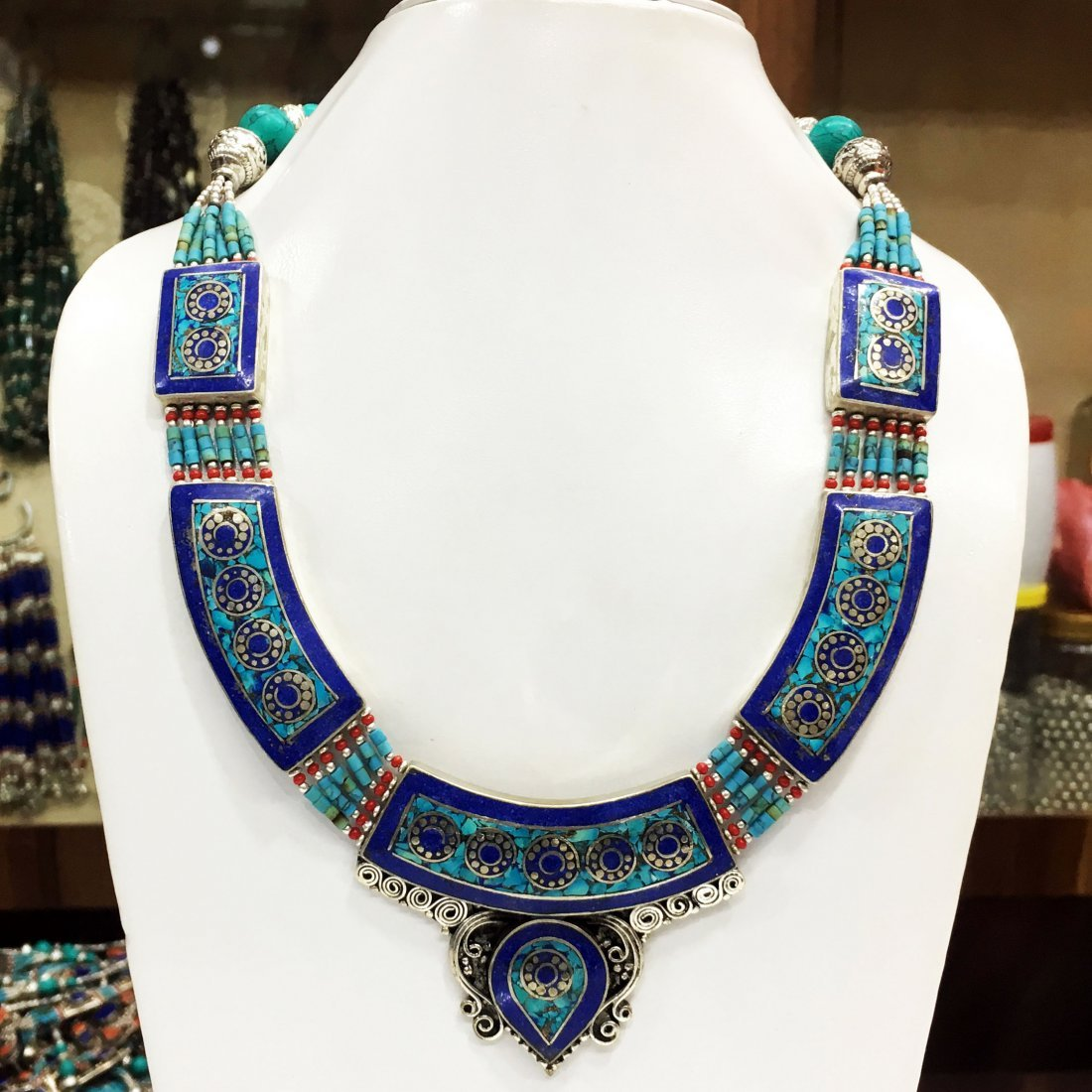 Tibetan Tribal Boho Handmade Lapis Necklace