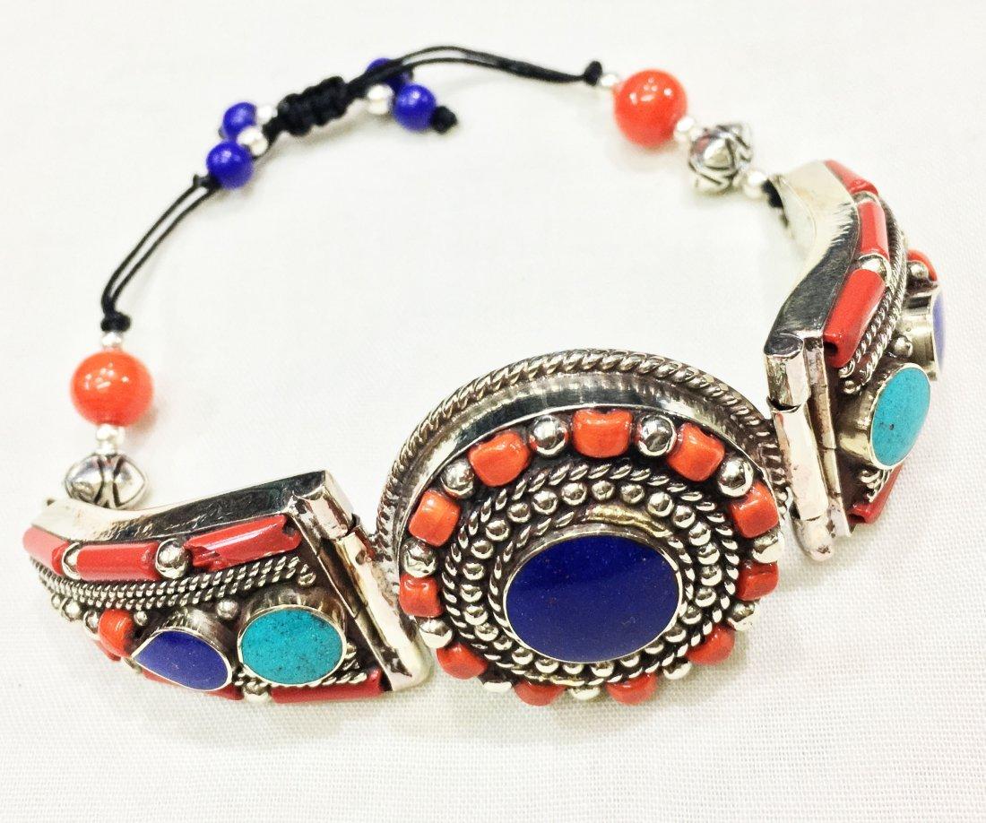 Red coral Vintage Boho Ethnic Handmade Bracelet - 2
