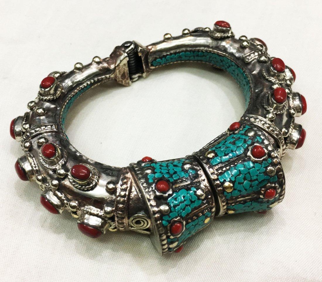 Beautiful handmade Tibetan Tibet Silver Bangle