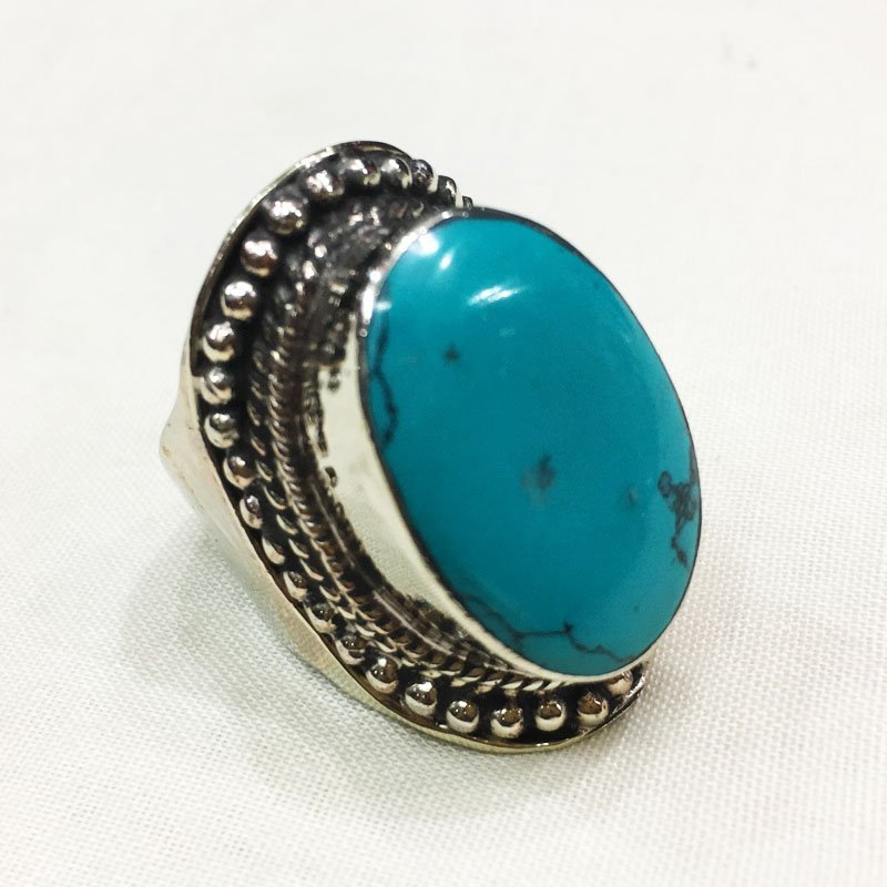 10MM Traditional Vintage Turquoise Antique Ring