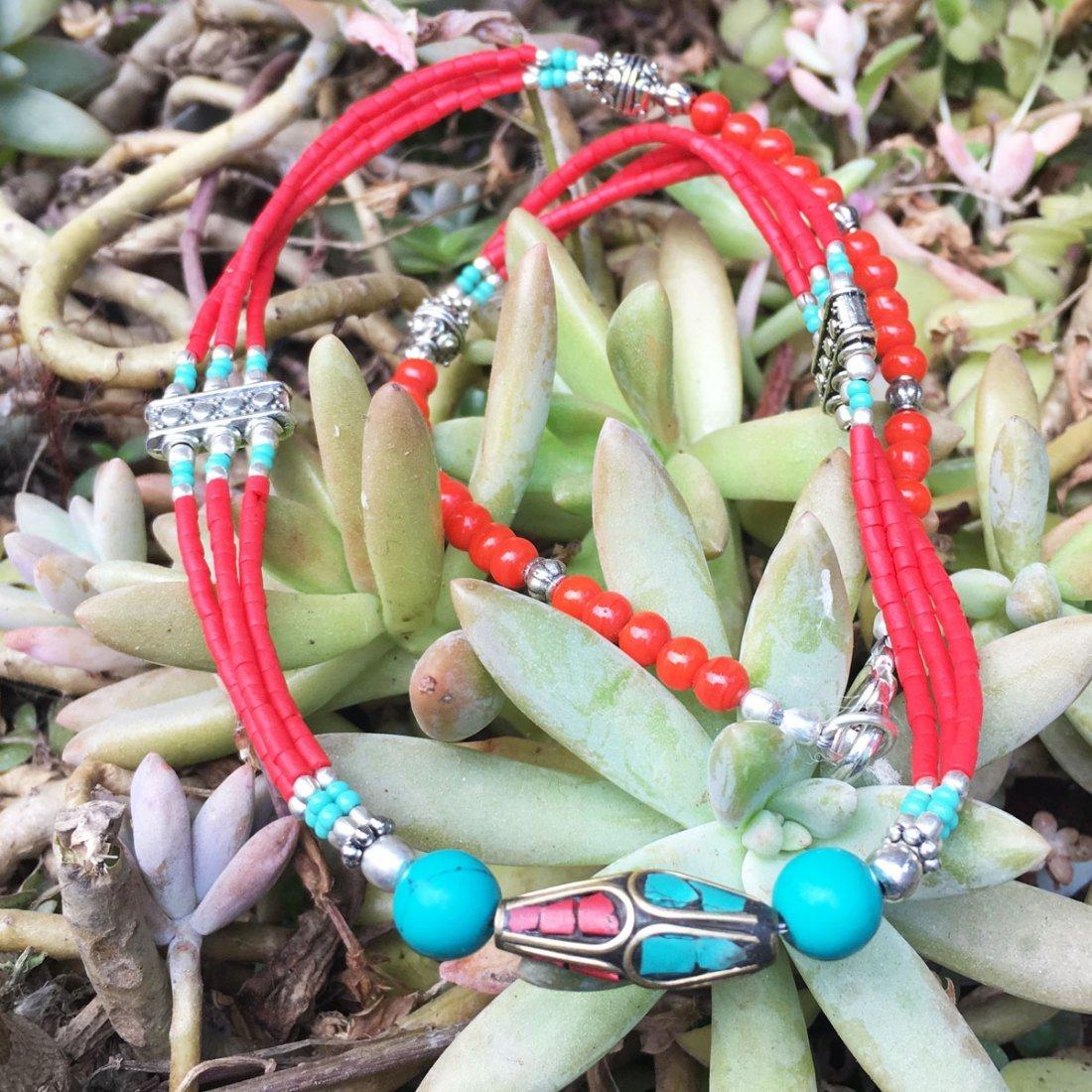 Tibetan Silver Tibetan Women's Coral Necklace
