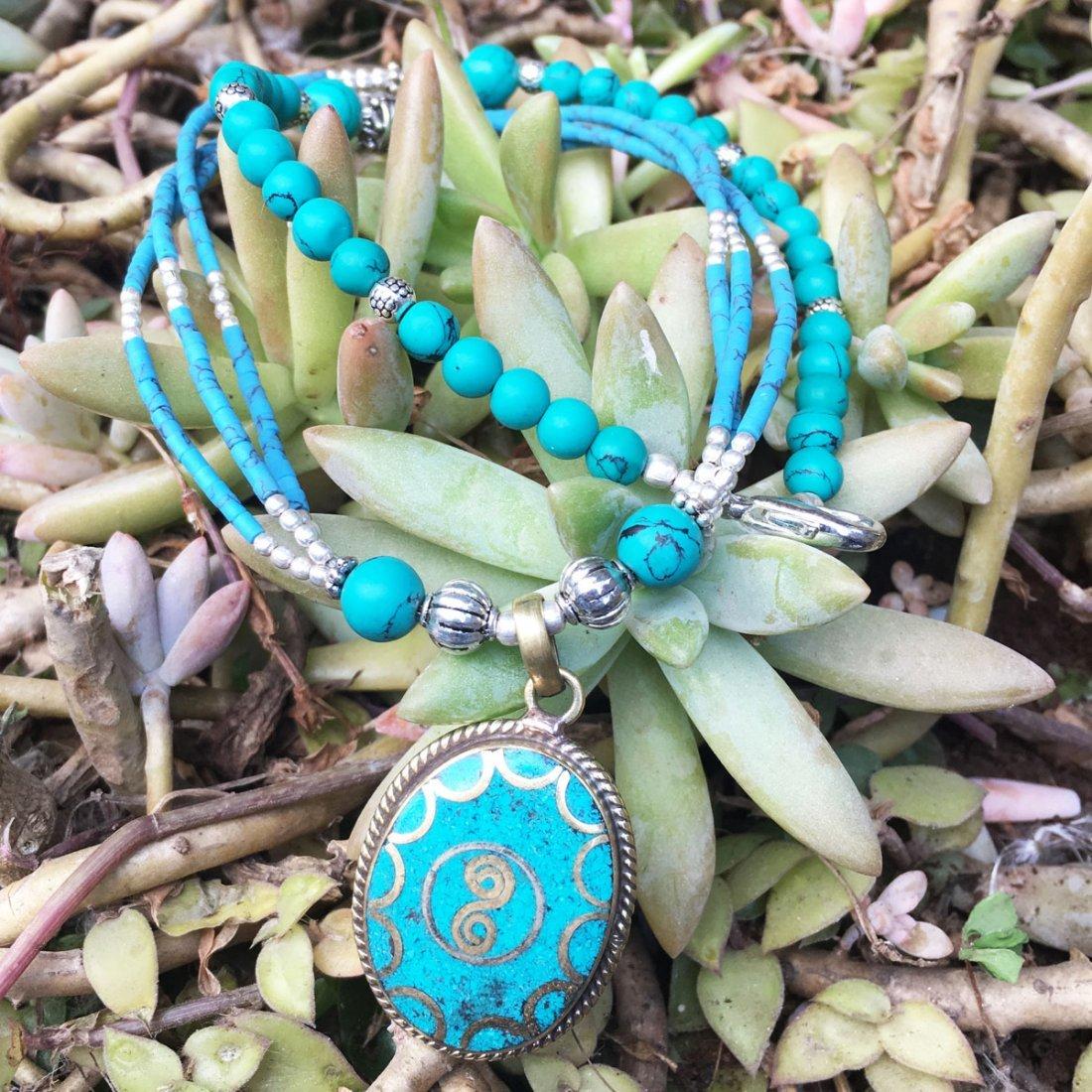 Tibetan Turquoise Unique Handmade Necklace