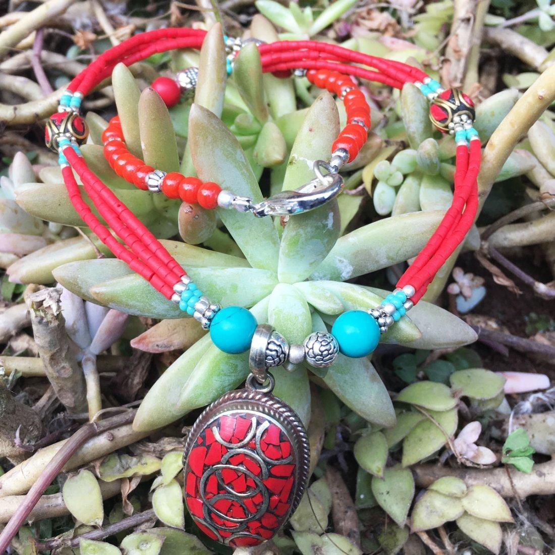 Tibetan Handmade Nepali Ethnic Coral Necklace