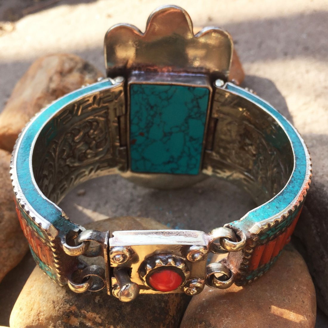 Turquoise Tribal Bohemian Handmade Bangle - 3