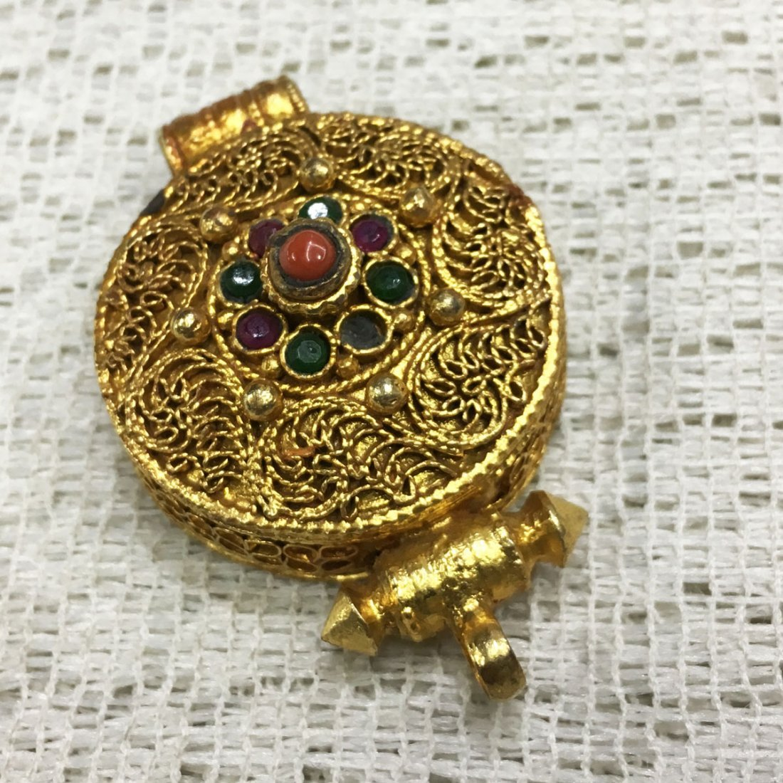 Buddhist Fine Quality Gold Plated Copper Ghau Gau