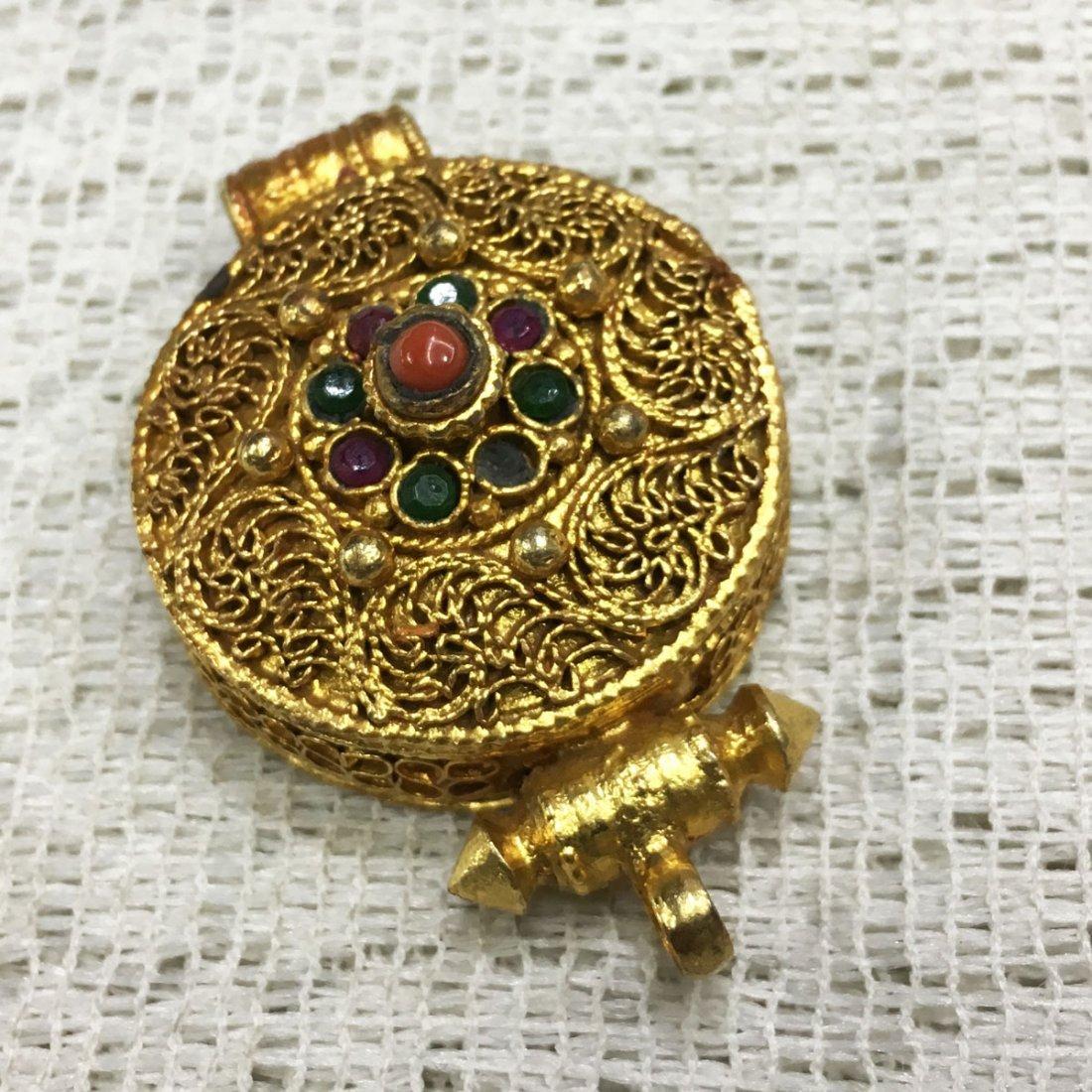 Buddhist Fine Quality Gold Plated Copper Ghau Gau