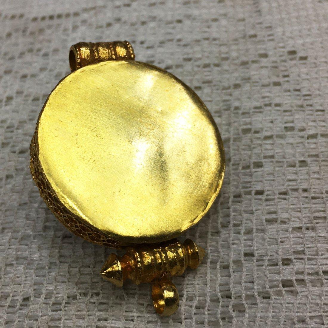 Buddhist Fine Quality Gold Plated Copper Ghau Gau - 2