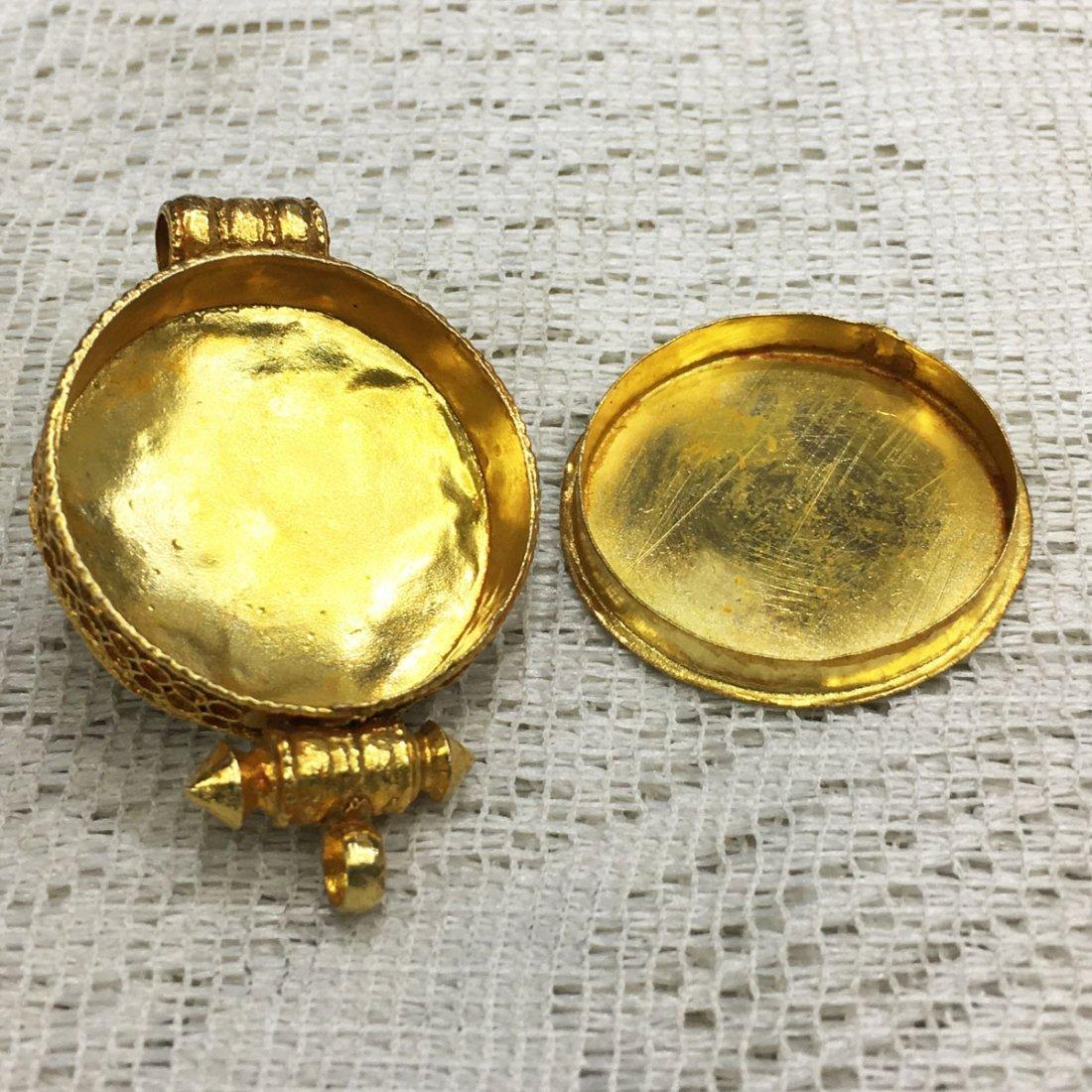 Buddhist Fine Quality Gold Plated Copper Ghau Gau - 3