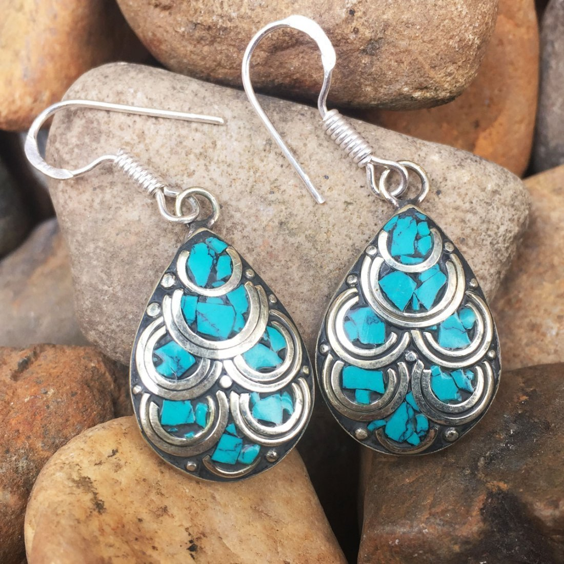 Traditional Vintage Turquoise Antique Earring