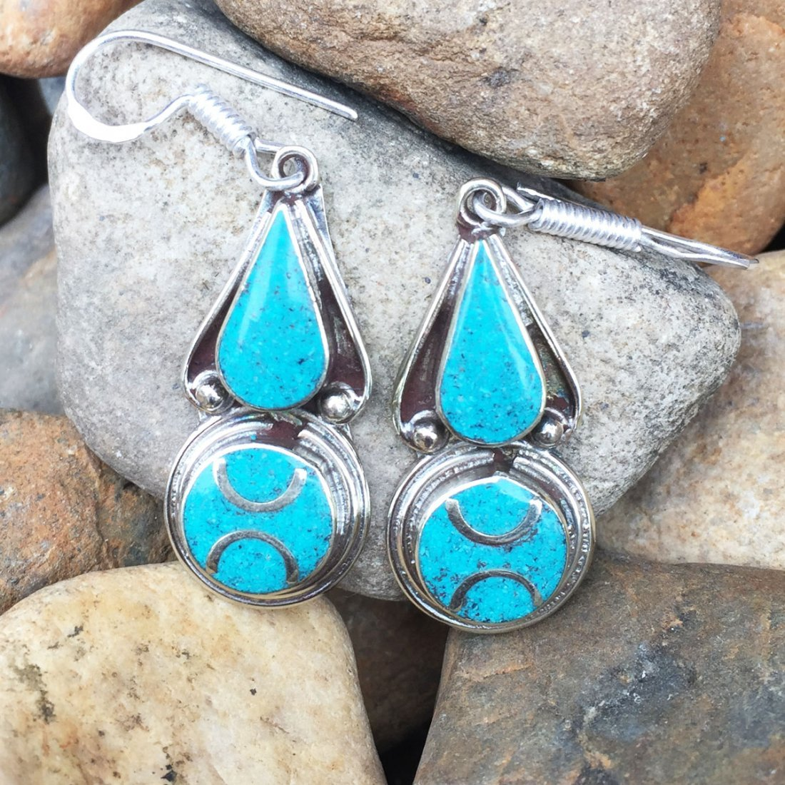 Vintage Turquoise Antique Handmade Earring