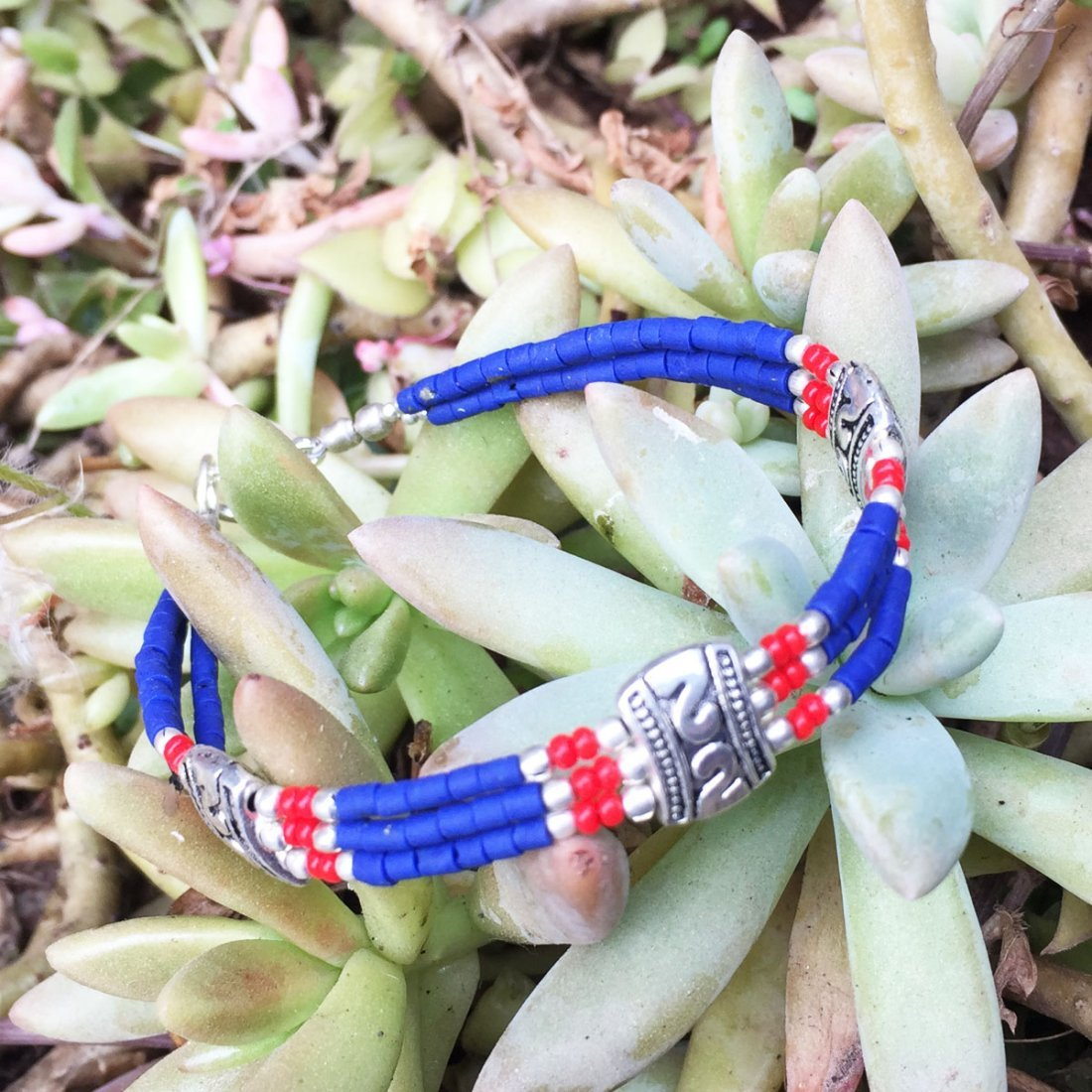 Tibetan Lapis Antique Handmade Bracelet
