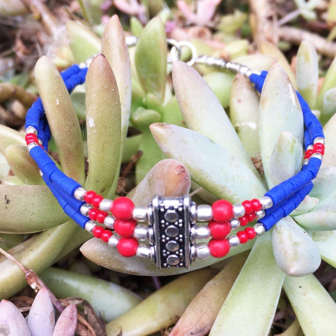 Handmade Traditional Bohemian Lapis Bracelet
