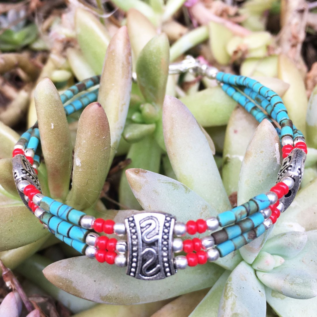 Antique Nepali Tibetan Turquoise Bracelet