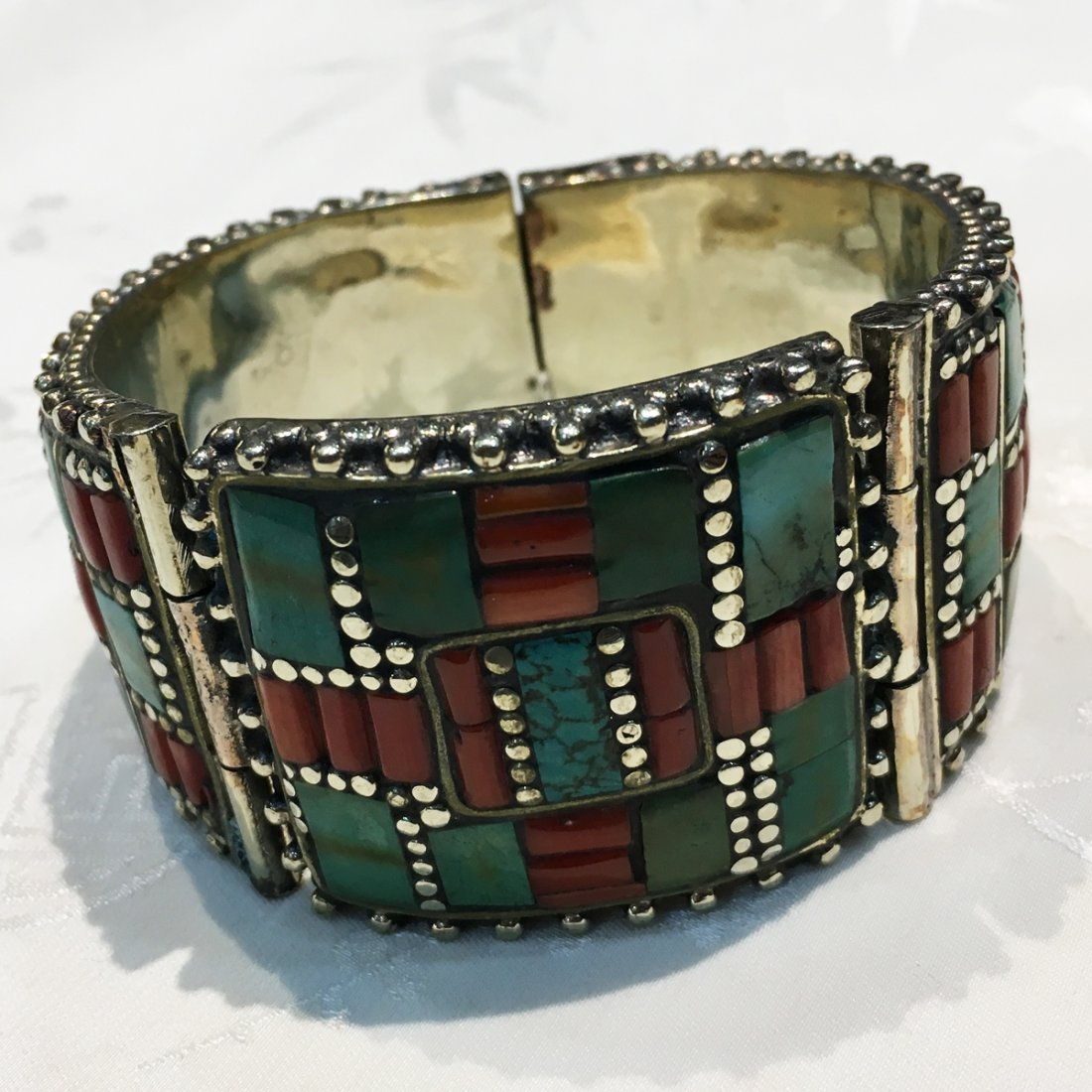 Nepali & Mexican Turquoise Bold Ethnic Bangle