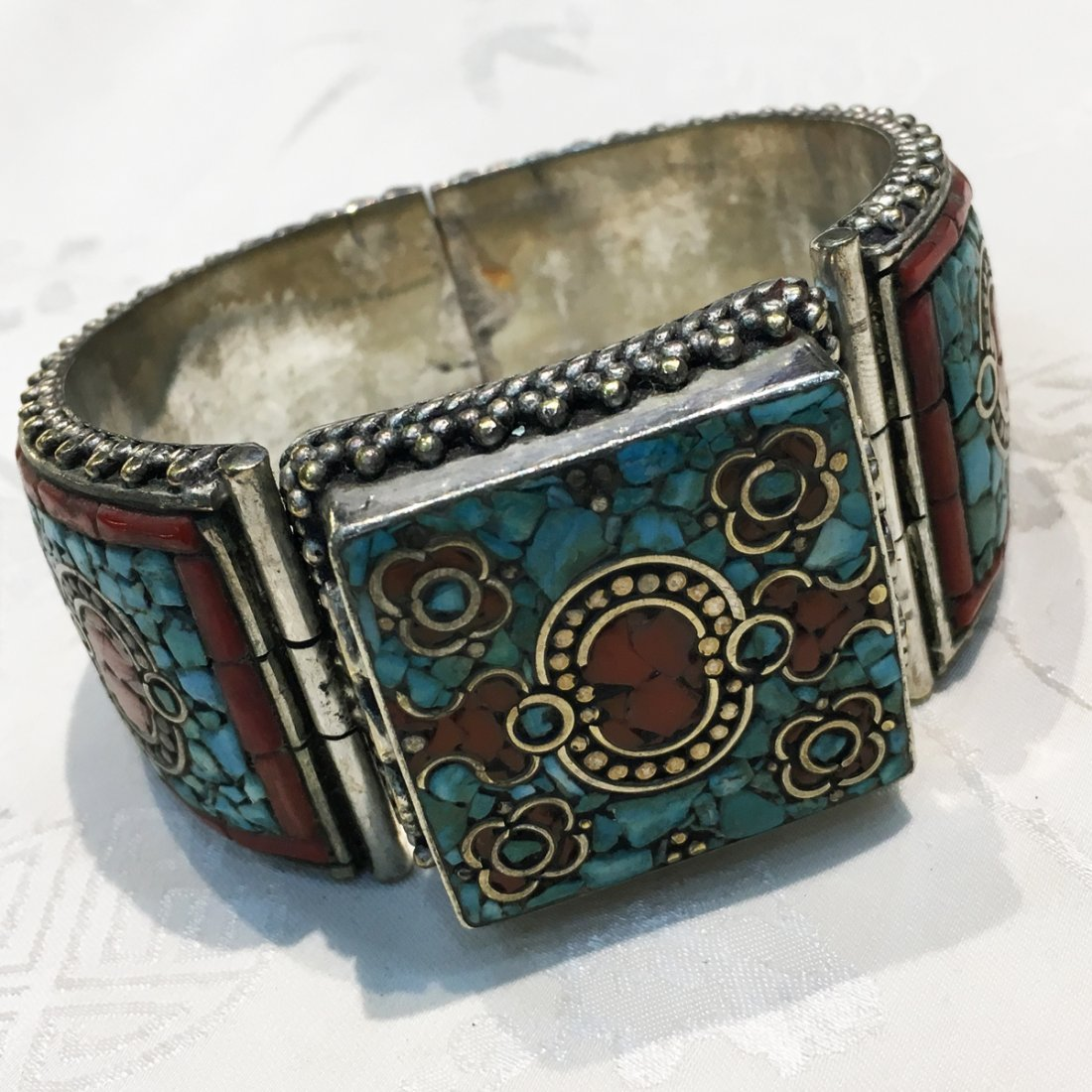 Tibetan Turquoise Unique Handmade Bangle