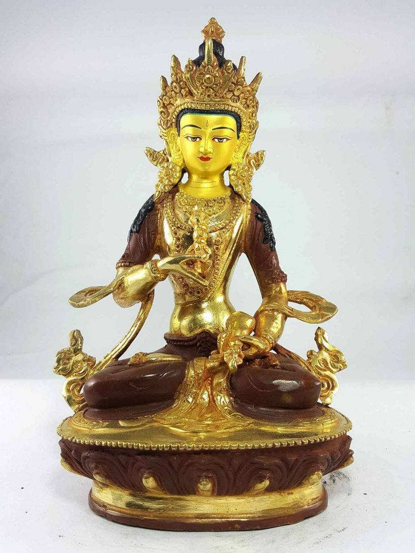 9 Inch Vajrasattva Statue [Partly Gold Plated] [Painted
