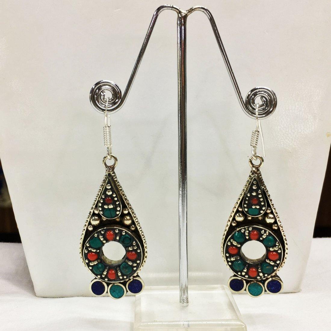 Women's Fashion Tibetan Silver Handmade Earring