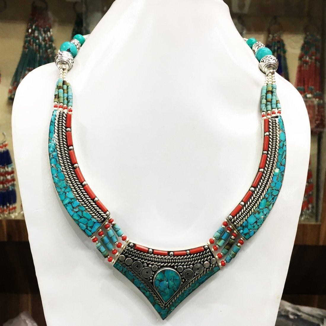 Boho Ethnic Antique Choker Handmade Necklace
