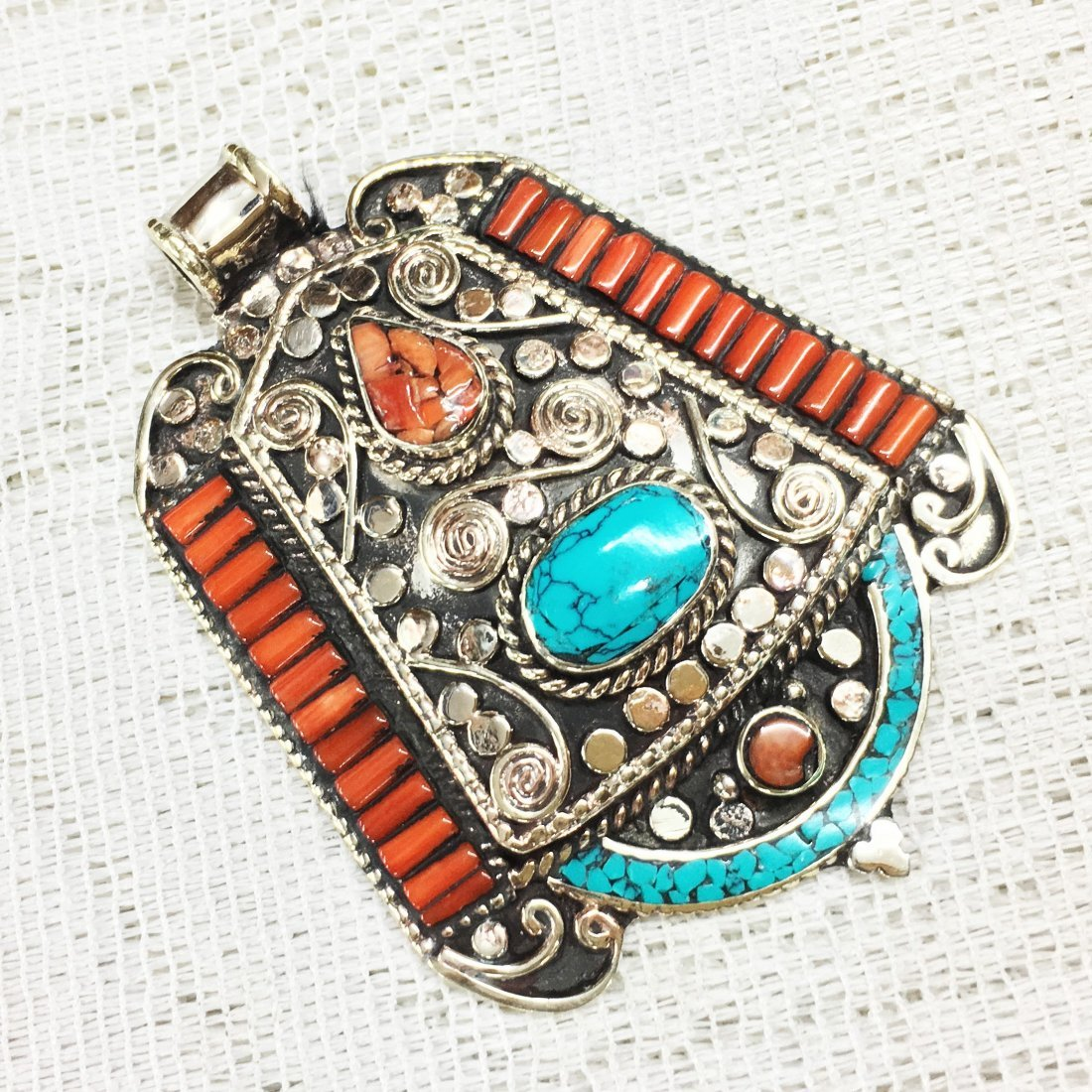 Bohemia Antique Tibetan Silver Pendant