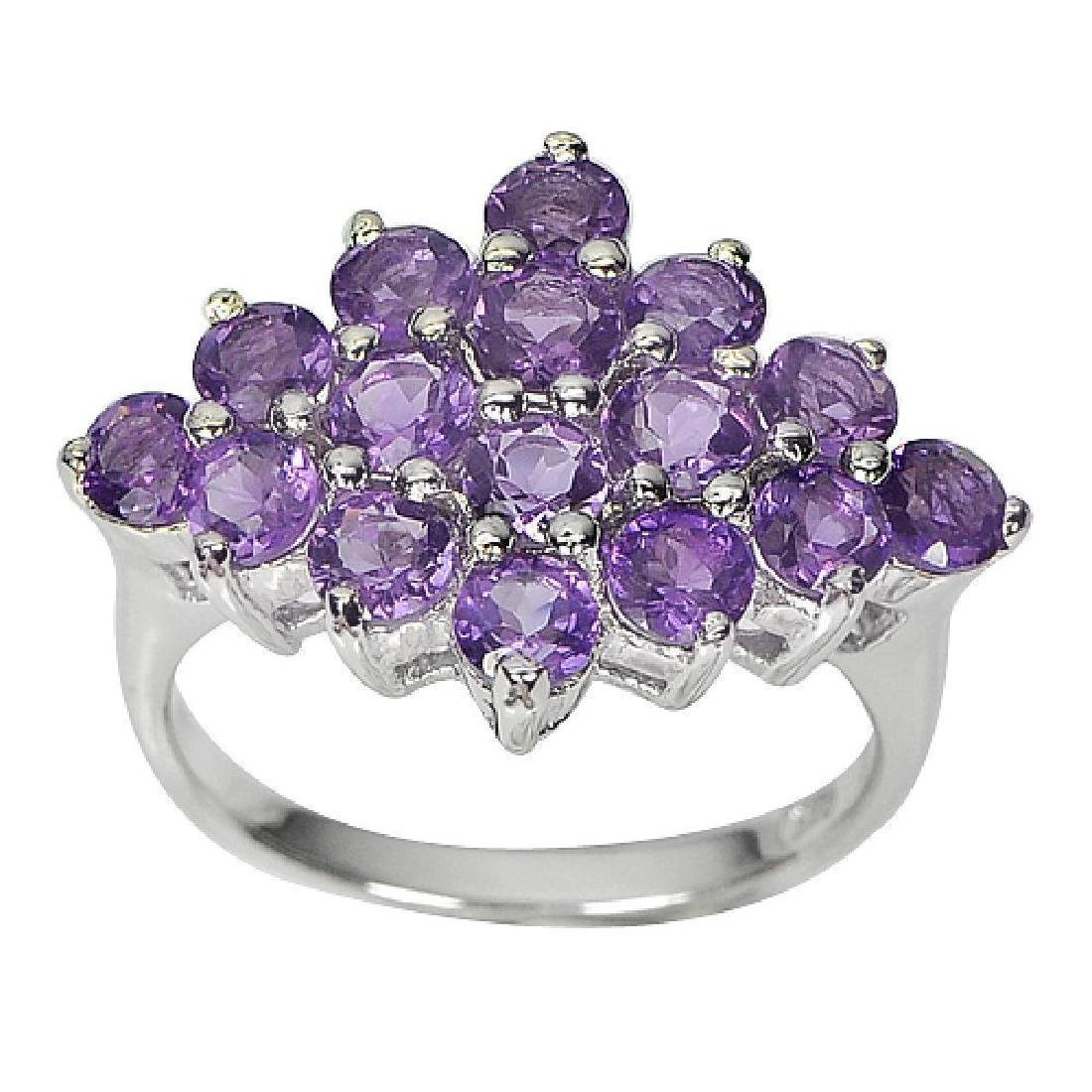 4.78 G. Amethyst 925 Sterling Silver Ring Size 7