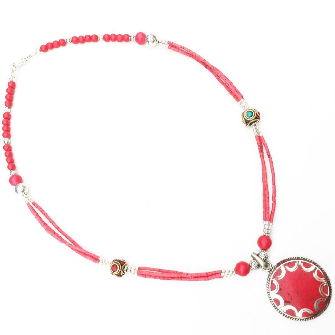 Tibetan Coral Unique Handmade Necklace - 2