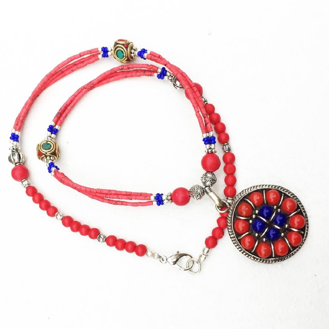 Tibetan Natural Coral Handmade Necklace