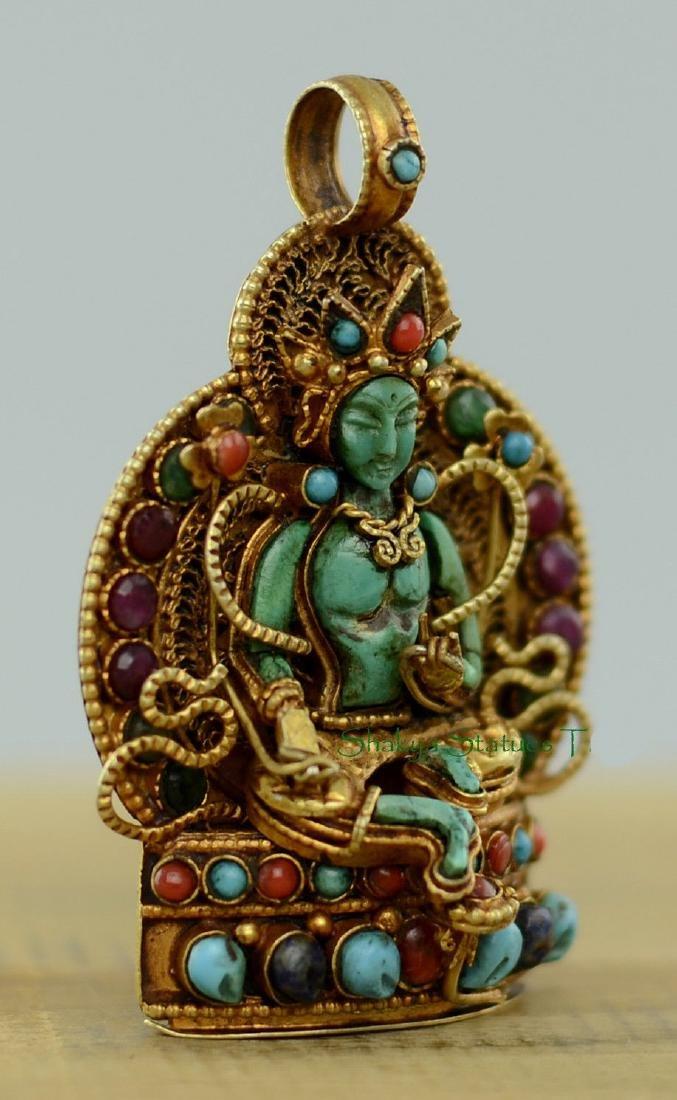 Green Tara Buddhist Ritual Sacred Ghau Prayer Box - 2