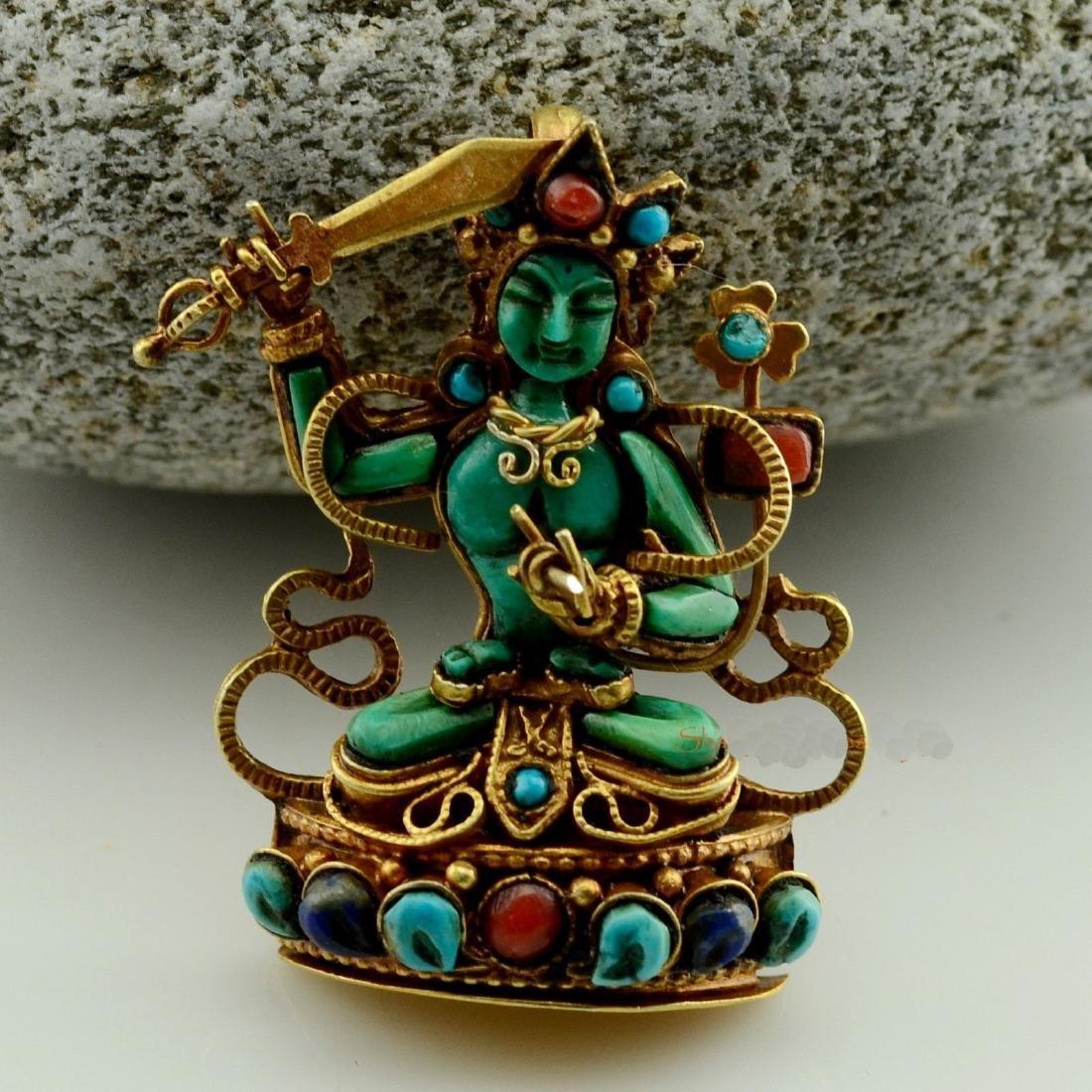 Manjushri Buddhist Ritual Sacred Ghau Prayer Box