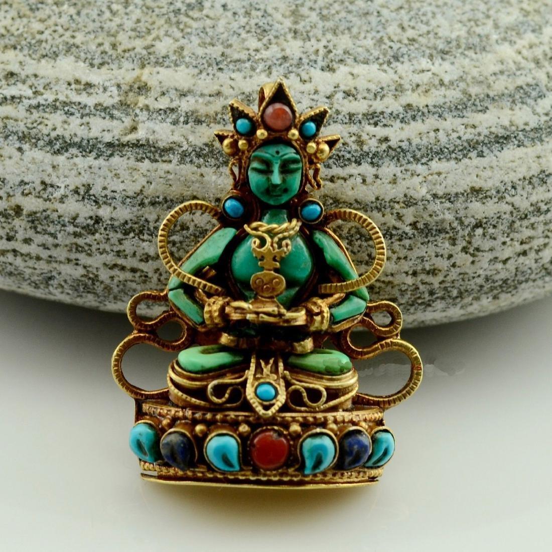 Aparmita Buddhist Ritual Sacred Ghau Prayer Box