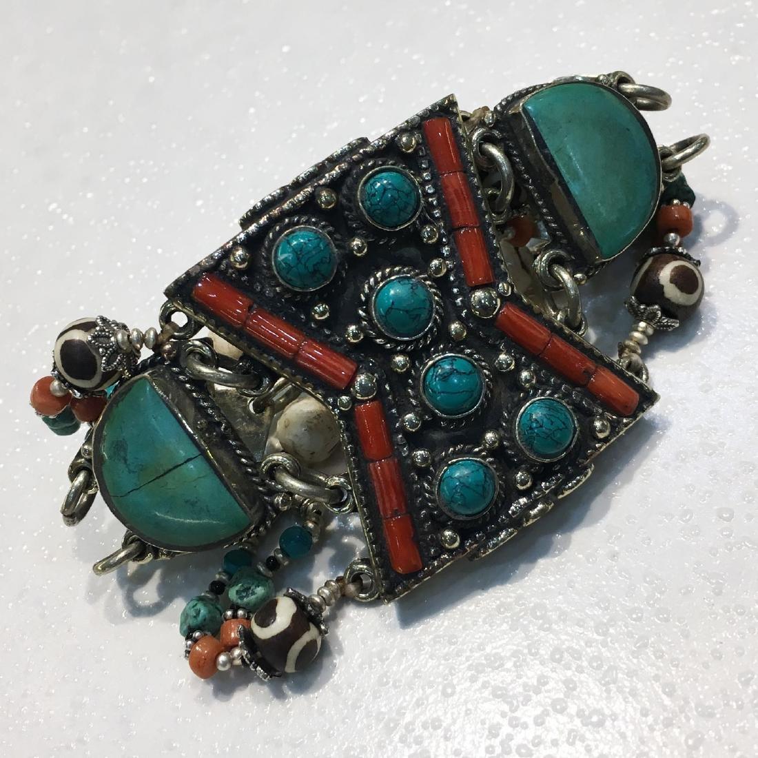 Gypsy Ethnic Antique Choker Handmade Bracelet - 3