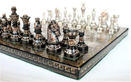 """10"""" x 10"""" Collectible Premium Indian Brass Made Chess"""
