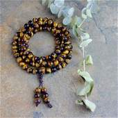 8MM Tiger Eye Handmade 108 Jap Mala