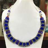 Tibetan Lapis Handmade Chokar Beaded Necklace