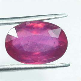 Natural Ruby Oval Cut 5.80 Cts 9x11 mm AAA Good Quality