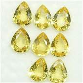 2.84 Cts Natural Yellow Sapphire Pear Cut 5x4 MM 8 Pcs