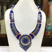 Antique Tibetan Lapis Chokar Necklace