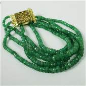 Natural Faceted Emerald Bracelet