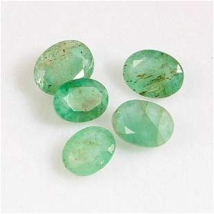 3 Cts Natural Emerald Oval Cut 6X5 mm