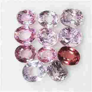 Natural Multi Spinel Oval Cut 2.65 Cts Burma Lot of 12